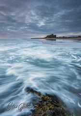 In a Wash (Calum Gladstone) Tags: bamburgh castle sunrise seascape longexposure movement sea sky manfrotto leefilters canon6d