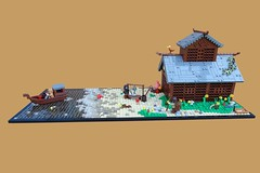 9 Kingdoms: Fishing Lodge (-Balbo-) Tags: lego moc brandküste fishing lodge bird lordoftherings balbo bauwerk