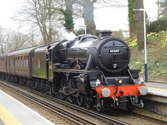 Black 5 at Botley (Southern England Bus Scene) Tags: lancashirefusellier black5 45407 botley