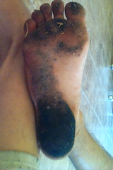Spirulina Feet (SmellyFeetBoy) Tags: spirulina feet foot dirty blue green algae filthy toes soles barefoot bare barefeet white boy male man gay homo homosexual solo