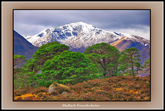 Mullach Fraoch-choire (The Jacobite) Tags: mountain heather tree snow scotland canon munro boulder invernessshire
