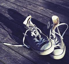 Well Worn Shoes (Budoka Photography) Tags: 7dwf shoes crazytuesdaytheme canonllens canonfd50mmlf12 outdoor manualondigital