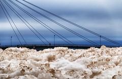 Foam ala Helsinki (BigWhitePelican) Tags: helsinki finland vanhankaupunginlahti bridge foam sky canoneos70d adobelightroom6 niktools 2017 march