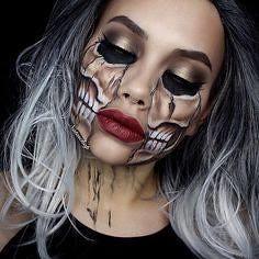Skull | Skeleton Halloween Makeup , #makeup , FB: http://ift.tt/2q4Zn9R (ineedhalloweenideas) Tags: skull | skeleton halloween makeup costume happy h