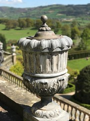 Urn (foggyray90) Tags: iphone iphoneography nationaltrust urn parapet garden wales powiscastle