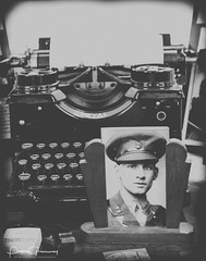 The Soldier's Photograph & The Typewriter (Peter Greenway) Tags: ww2 40s flickr homeguardunit typewriter photographer homeguard worldwar2 ww2soldiers soldierphotographer oxfordshirehomeguard