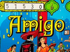 Amigo (scottamus) Tags: pinball machine game table arcade backglass backbox translite art artwork design graphics amigo bally 1973