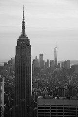 Empire State Building (airspex) Tags: nyc newyork new york city newyorkcity usa empirestatebuilding empire state building skyline manhatten blackwhite architecture
