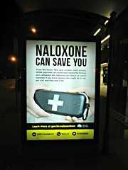 Naloxone (knightbefore_99) Tags: naloxone drugs habit junkie epidemic dtes vancouver crack crackhead scum poster bus stop hastings street overdose pathetic