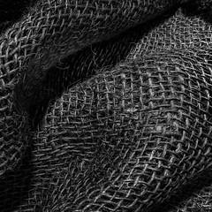 Sack Cloth (arbyreed) Tags: arbyreed macromondays clothtextile close closeup monochrome blackandwhite bw squareformat fabric material burlap sackcloth course courseweave woven