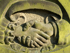 Stockton Heath churchyard 03 apr 17 (Shaun the grime lover) Tags: warrington carving church memorial stocktonheath stthomas churchyard graveyard gravestone tombstone headstone hands handshake detail spring