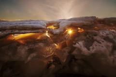 Paysage de glace (Patrice StG) Tags: sony a7ii 1835mmf3545g nikkor1835g printemps spring gimp sun soleil couchant coucherdesoleil sunset glace ice backlit contrejour