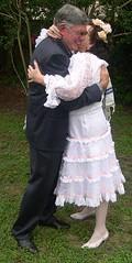 Sugar gets married (Sugarbarre2) Tags: wife woman mature old white black green garden fun light short long fashion nikon wedding
