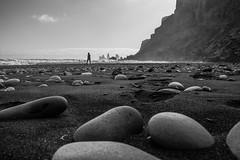 Víkurfjara-black sand beach, Vík, Iceland. (mindtraveler26) Tags: lonely waves ocean mountains classicblackandwhite blacksandbeach bw canon vík iceland beach blackandwhite