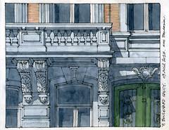 7, boulevard Saucy (gerard michel) Tags: belgium liège architecture sketch croquis aquarelle watercolour shadows ombres