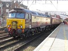 "57305 TNT 57311 1Z68 Northern Belle ""Northern Princess"" on Chester - Harrogate at Crewe 22/04/2017 (37686) Tags: 57305 tnt 57311 northern belle chester harrogate crewe 22042017 1z68 northernprincess"