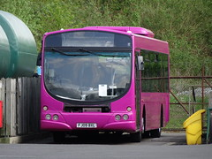 Pink repaint at Langley Mill Depot (Guy Arab UF) Tags: trent barton 731 fj09bxl volvo b7rle wright eclipse langley mill bus depot derbyshire wellglade buses wellgladegroup