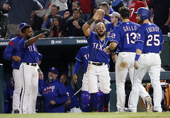 Texas Rangers lose to Cleveland Indians (paulmoseleyphotos) Tags: 0405texasrangersclevelandindiansmlbbaseball paul moseley paulmoseleyphotos fort worth dallas texas photo photographer photojournalism canon eos porsche carrera 911sc 911t 911s 911l 911e 356 914 928 cayman boxster cayenne macan fuchs german germany volkswagen gti r32 rangers mlb stars nhl tcu horned frogs cowboys nfl mavericks mavs nba woodrow wilson high 1972 arlington tx