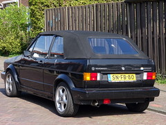 Volkswagen Golf 1 cabrio 1991 nr3520 (Ardy van Driel) Tags: snfb80 softtop
