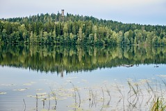 Summer landscape at Aulanko nature park in Finland. Reflection of the scene and the lookout tower in the still water of the lake. (Digikuvaaja) Tags: landscape summer scenery backdrop environment finland hämeenlinna aulanko forest grass island lake mountain ocean outdoor outdoors park pond reflection river scene scenic sea season shore sky spring stream sun tourism tranquil tree trees vacation water wild fresh green nature idyllic blue serene nordic woodland relaxation background paradise land mountains wilderness