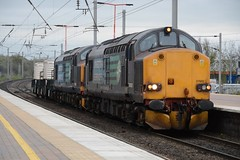 """Direct Rail Services 'Compass' Liveried Class 37/6's, 37602 & 37606 (37190 """"Dalzell"""") Tags: drs directrailservices compass ee englishelectric type3 growler tractor class37 class376 37602 37502 37082 d6782 37606 37508 37090 d6790 northwestern wigan"""