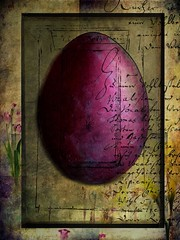 Happy Easter (jimlaskowicz) Tags: portrait european craft artistic illustration painterly vintage easteregg typography impressionistic card colorful egg easter