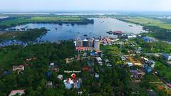 Ragam Resort, Alleppey (Ragam Resort, Alleppey) Tags: ragam resort alleppey alappuzha backwaters bird eye view sky