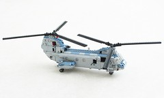 CH-46E Sea Knight revamped (Mad physicist) Tags: lego helicopter seaknight boeing ch46e usmarines