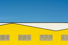 Yellow Factory (on Explore) (Jan van der Wolf) Tags: map158277v building gebouw yellow geel lines lijnen lijnenspel geometry geometrisch geometric interplayoflines playoflines factory industrial