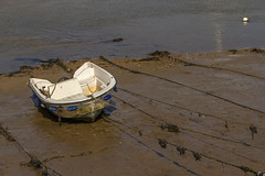 It's a mudbath down there! (Kev Gregory (General)) Tags: stranded upon wet tidal mud wellsnextthesea this boat could be challenge get sand bank during low tide wells next the sea norfolk coast coastline estuary north sunny sun water east fleet salt marsh marshes kev gregory canon 7d england