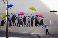 iParis: lemouvement (gregjack!) Tags: france french paris mural muralart people candid street streetphotography umbrella sony rx10m3 lemouvement