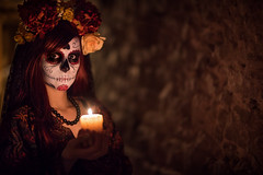 Light a Candle (Bastian.K) Tags: dori zhong yi zhongyi mitakon speedmaster dark knight 50mm 095 cosplay costume dia de los muertos day dead fear walking sunset sunrise vintage retro old film analogue analog look portrait women girl sony a7s alpha7 alpha7s candle kerze kerzenlicht high iso