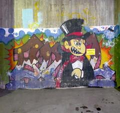 Evil (neppanen) Tags: sampen discounterintelligence helsinki helsinginkilometritehdas suomi finland dabi astron graffiti streetart evil pasila itäpasila oldschool parkkihalli