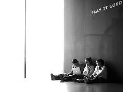 Play It Loud (SchillingD) Tags: street streetphotography streetfoto streetphotografie streetphoto dortmund bnw black blackwhite white olympus 20mm em10 people city urban life street0231 streetwalkdortmund
