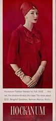 Hockanum Fabric 1958 (barbiescanner) Tags: vintage retro fashion vintagefashion 50s 50sfashion vintageads hockanumfabric jessicaford