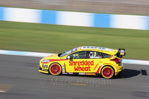 Mat Jackson during qualifying during the BTCC Weekend at Donington Park 2017: Saturday, 15th April