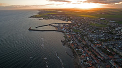 Anstruther Sunset (justinking1986) Tags: elie beach dji inspire drone anstruther scotland sunset