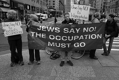 They Protest _ bw (Joe Josephs: 2,861,655 views - thank you) Tags: nyc newyorkcity travel travelphotography joejosephs photojournalism â©joejosephs2017 ©joejosephs2017 blackandwhitephotography blackandwhite democracy demonstrations israel protes