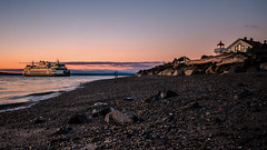 Whidbey Island Ferry (Sworldguy) Tags: mukilteo washington whidbeyisland ferry possessionsound westcoast pacificnorthwest terminal transportation usa sunset beach rocky nikon dslr seaside seascape shore