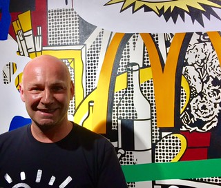 """Sebastien Laboureau had a witty conversation about apropriation """"From Picasso to Speedy Graphito"""" at Fabien Castanier Gallery in Wynwood"""