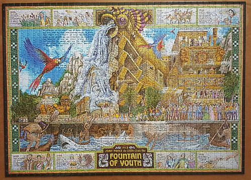 Fountain of Youth, Ancient Blueprint jigsaw by Albert Lorenz
