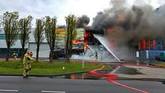 Brand in Mokum (Peter ( phonepics only) Eijkman) Tags: amsterdam city haven harbour brand brandweer firebrigade fire nederland netherlands nederlandse noordholland holland