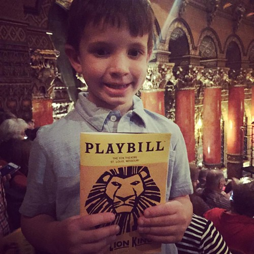 Cole's first musical! #cole #thelionking #thefabulousfox