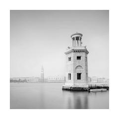 Reflected Light (Nick green2012) Tags: venice longexposure blackandwhite square lighthouse church reflection