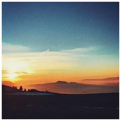 Winter heat (biographik) Tags: iphone7 iphone apple snapseed prisma landscape winter sunset snow mountain alps semnoz