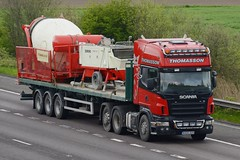 KX05 DZS (panmanstan) Tags: scania wagon truck lorry commercial freight transport haulage vehicle m18 motorway langham yorkshire