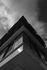 Architecture West End EPMG  (5 of 20) (Philip Gillespie) Tags: architecture edinburgh scotland mono buildings city sky spring form shape angles reflections clouds modern