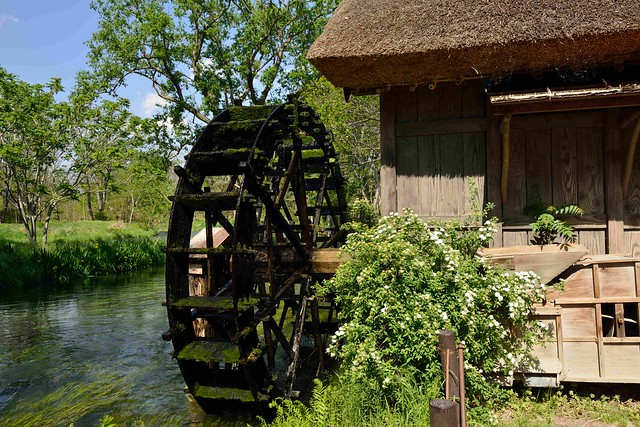 Waterwheel mill
