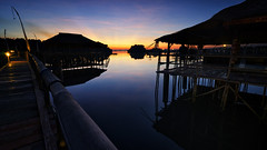 Stilts (eggysayoga) Tags: blue sky bali cloud house reflection sunrise indonesia landscape nikon bamboo tokina filter lee nd stilts tuban graduated gnd 1116mm d7000