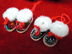 Tiny Handmade shoes (Melinda ^..^) Tags: colors souvenirs shoes colorful chinese culture craft sew mel tradition melinda handcraft chanmelmel